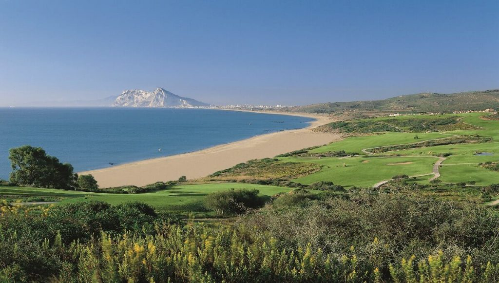 Neighboring Alcaidesa golf course with Rock of Gibraltar views
