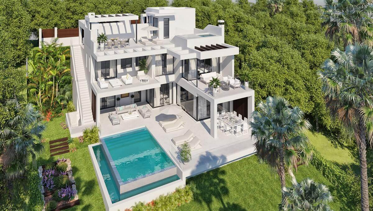 Grand Villa 3A Aerial - The View Luxury Villas