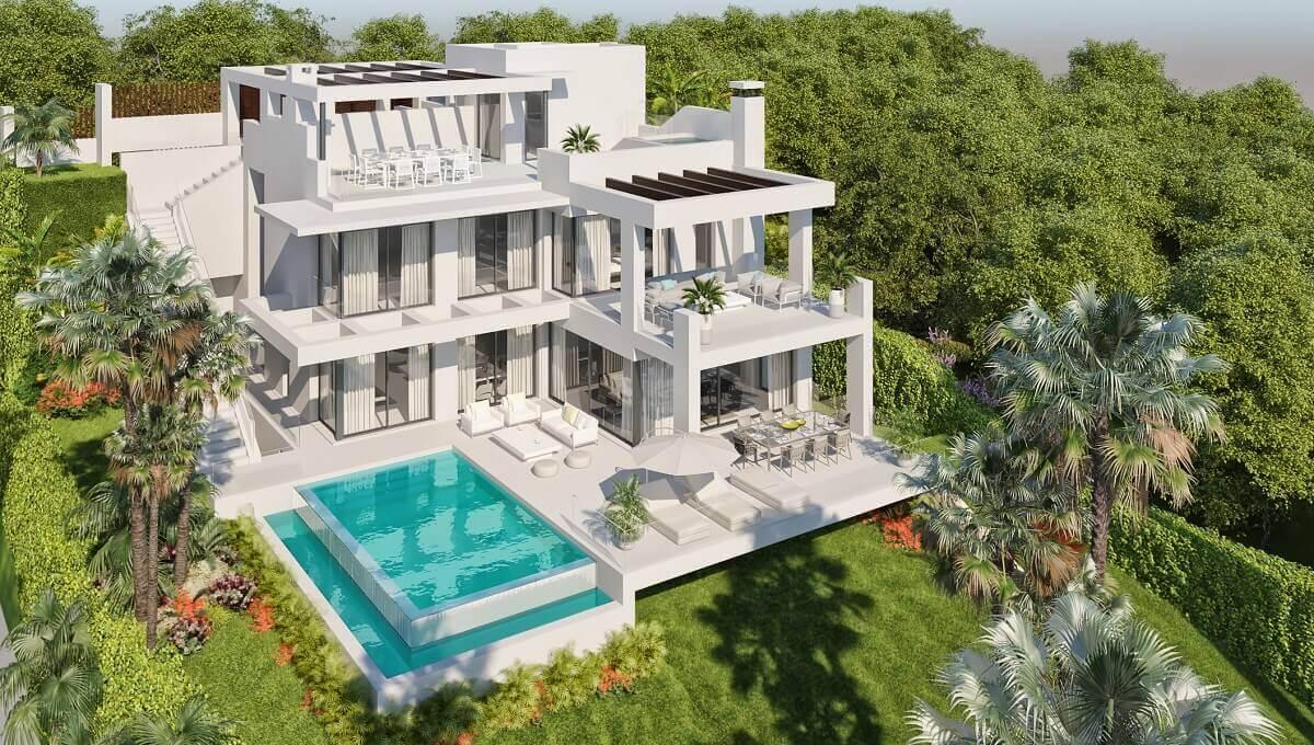 Grand Villa 3B Aerial - The View Luxury Villas