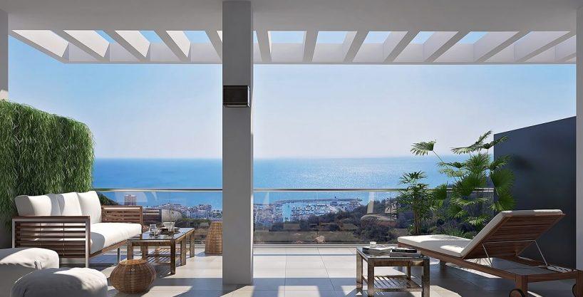 Blue Sunset La Duquesa | Garden Apartment