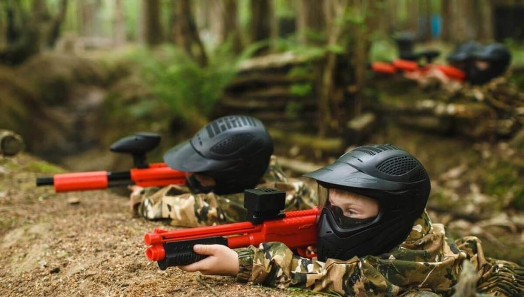 Kids friendly paintball in Andalucia