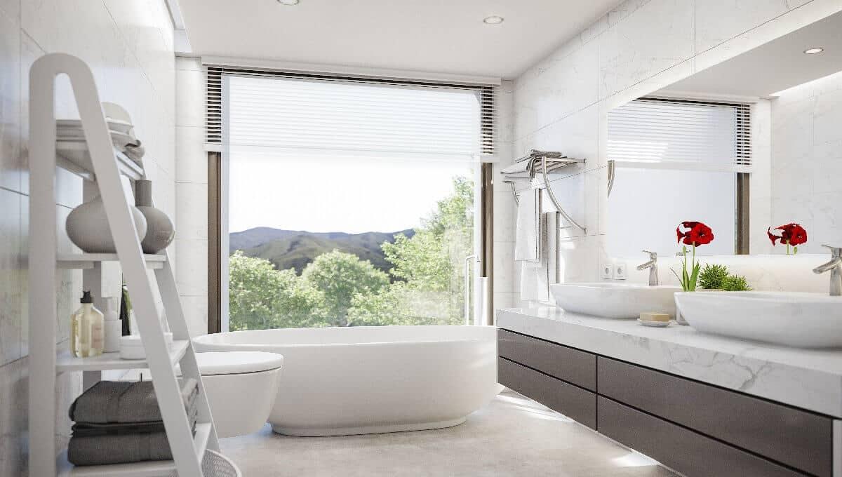 Villa Amatista main bathroom