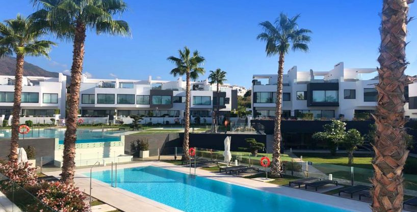 Stunning beachfront townhouse for sale in The Island Estepona